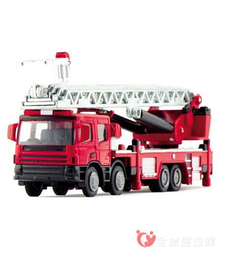 彩虹模型玩具 帅气逆行消防车玩具