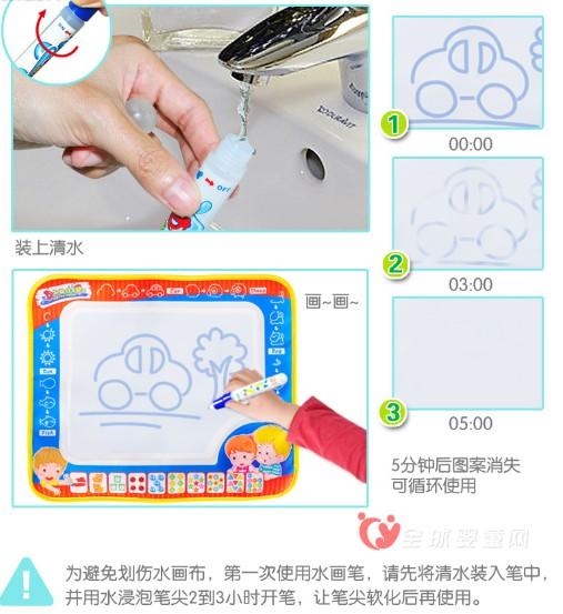 合翔玩具:用水就可以画画的玩具  宝宝水画布系列玩具