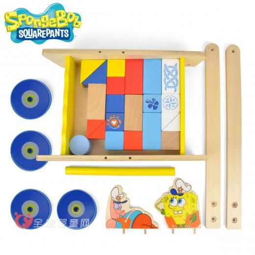 特宝儿儿童益智玩具 宝宝积木学步车
