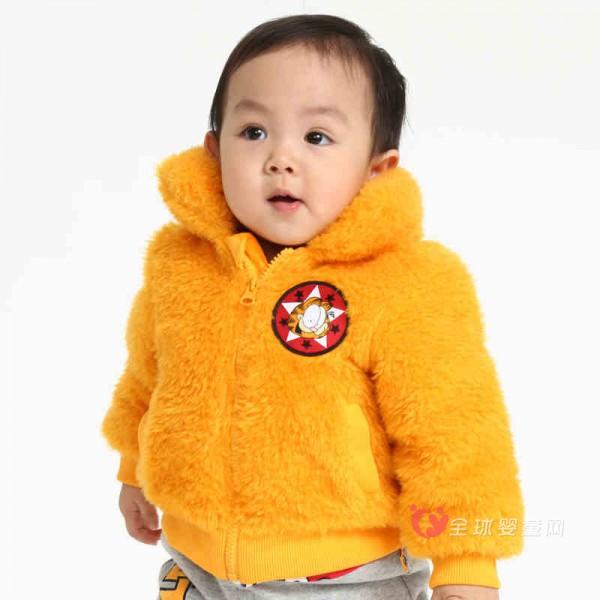 宝宝过年穿什么外套好 BABiBOO加菲猫女童毛绒外套怎么样