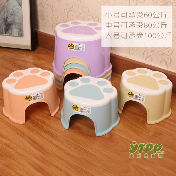 给宝宝选凳子有讲究 儿童塑料卡通板凳 加厚防滑小凳子