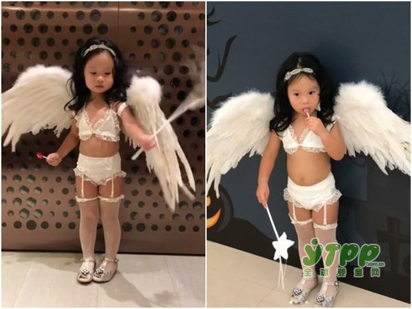 2017维秘上海大秀 第一千金关颖把2岁女儿打扮成超模穿内衣和吊带袜 不料被骂惨了