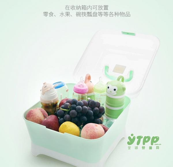 teknum婴儿奶瓶收纳盒 宝宝用品一盒收纳