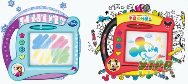 如何让孩子放下电子游戏  迪士尼磁性涂鸦画板给孩子快乐的爱