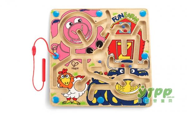 hape迷宫玩具走珠益智玩具   快乐农场迷宫时尚又有趣