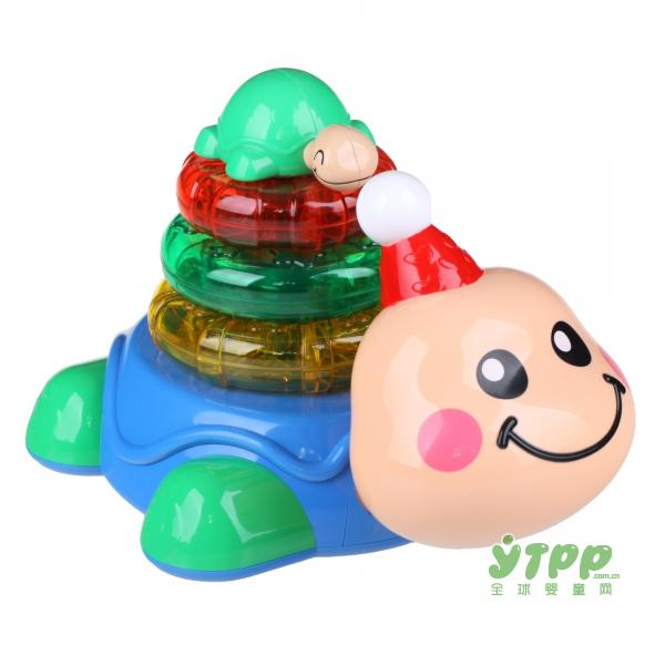 玛力玩具乐龟叠叠乐益智启蒙玩具   让宝宝的爬行历程更加有趣