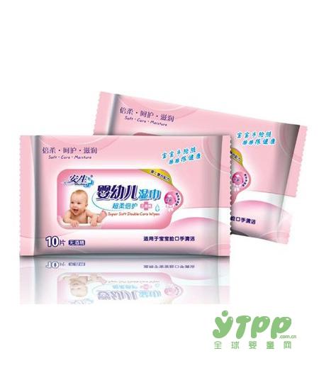 劣质湿巾引起宝宝接触性皮炎、湿疹 安生婴儿湿巾用的放心