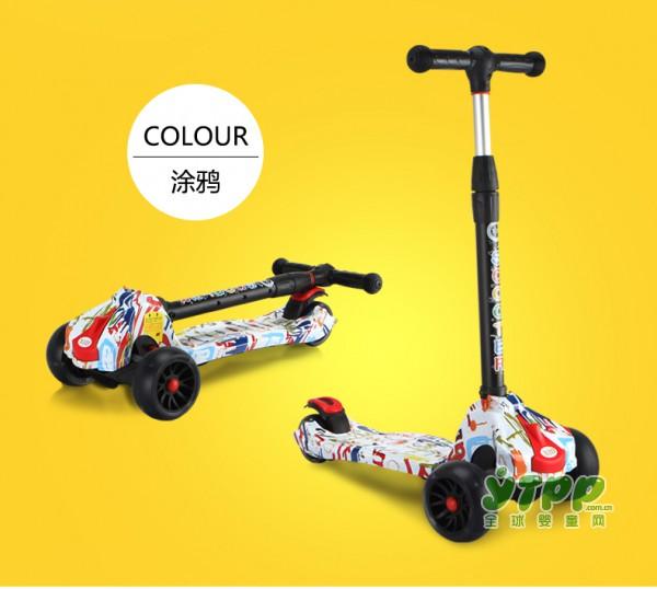 xjd炫酷儿童滑板车 精彩童年有它作伴