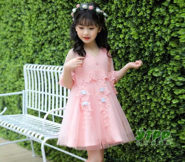 粉色系夏季女童装优雅甜美连衣裙 让宝贝轻松化身小公主