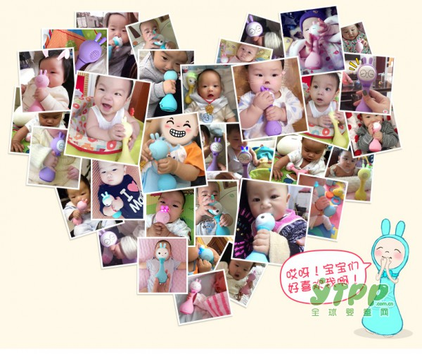 阿李罗火火兔手摇铃玩具   给宝宝真实的声音体验