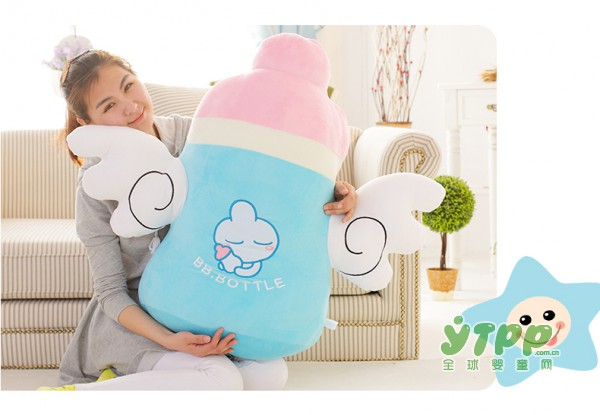 七夕情人节礼物 天使奶瓶公仔抱枕 给心爱的她送上爱的抱抱
