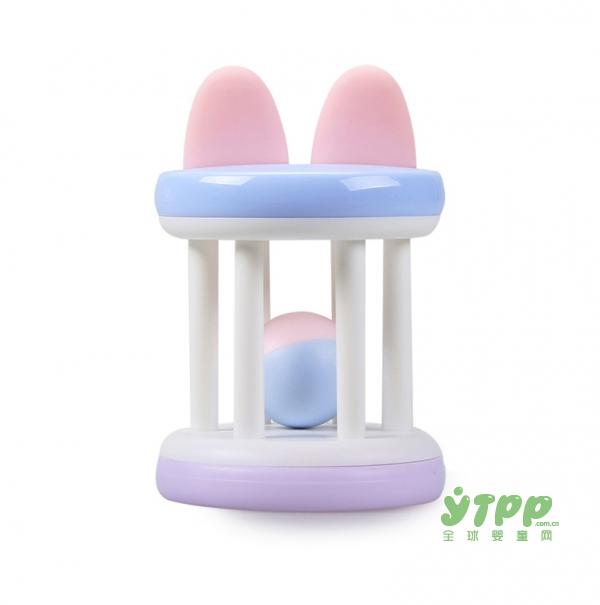 活石婴儿牙胶手摇铃玩具  趣味玩乐主义  妈妈育婴的好帮手