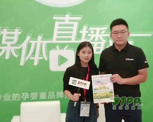 锐哲贸易(上海)有限公司市场经理吕国良先生接受全球婴童网记者的采访