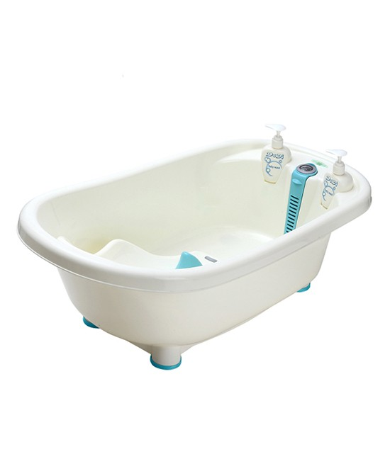 什么样的婴儿浴盆好 青蛙嘟迪儿童智能感温浴盆保护宝宝脊椎