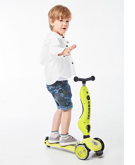 市场上什么牌子的儿童滑板车热销 COOGHI酷骑儿童滑板车