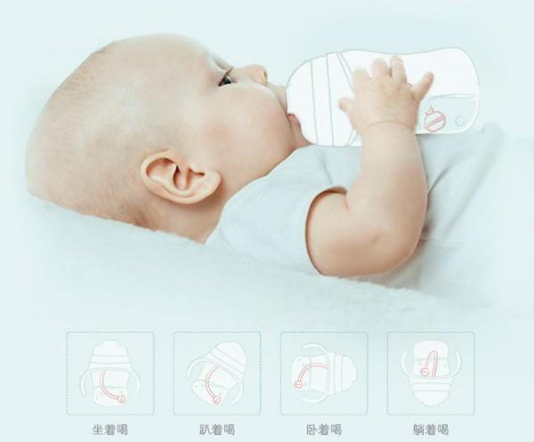 呵护硅胶奶瓶 宝宝防胀气宽口径奶瓶