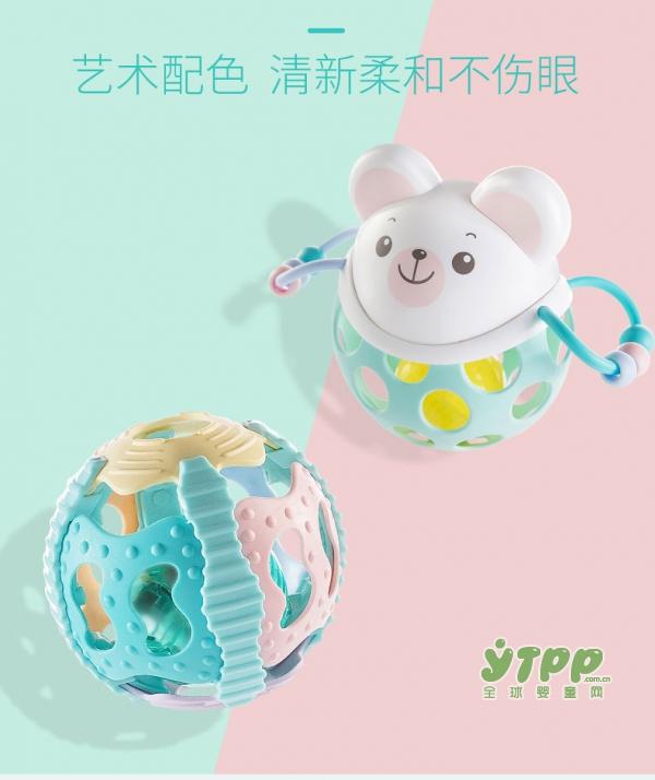 可优比婴儿手摇铃声光健身球  益智玩乐宝宝的玩趣健身教练