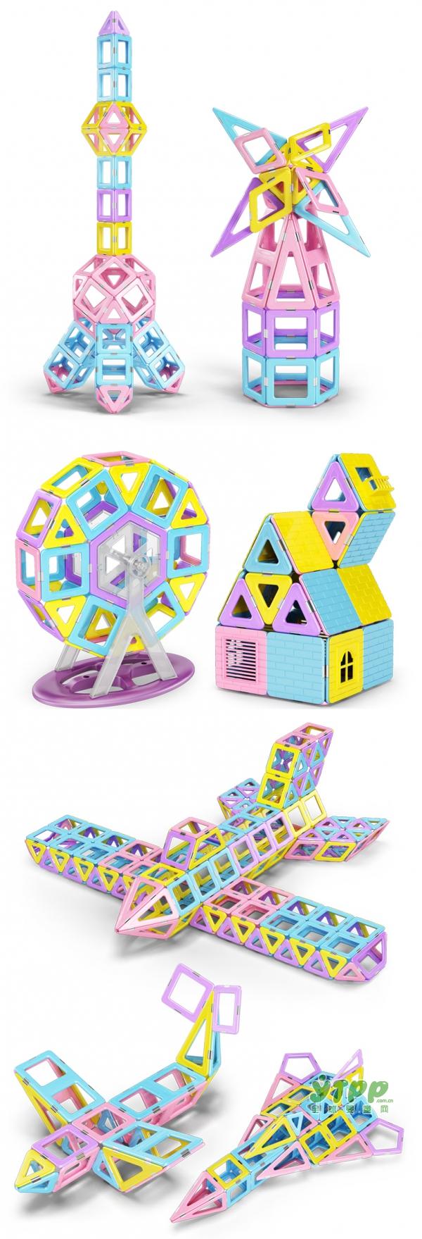 贵派仕二代磁力片积木   七十二变城堡 孩子的王国梦