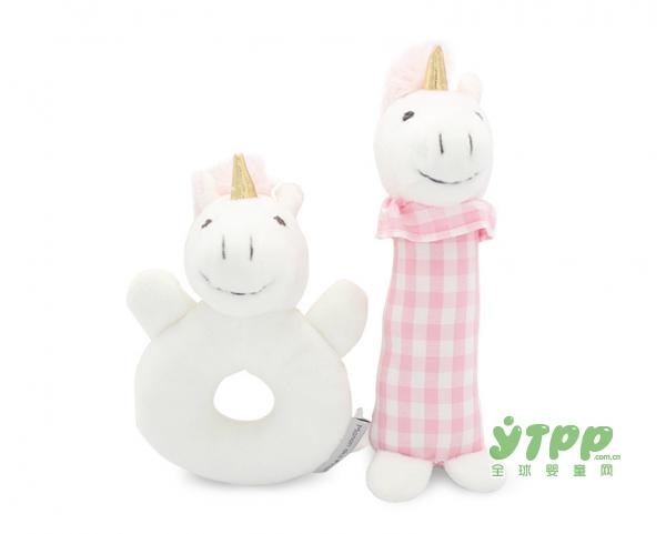 麦侬贝儿婴儿手抓摇铃毛绒玩偶   用爱点亮宝宝的快乐童年