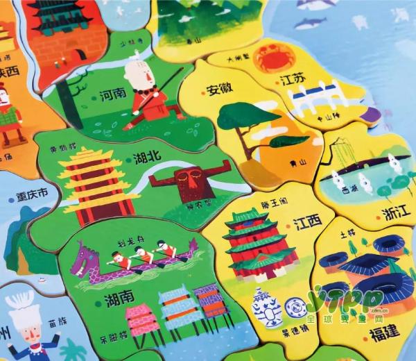 【新品试用】足不出户带宝宝游历大好河山,美乐磁贴中国拼图来了!