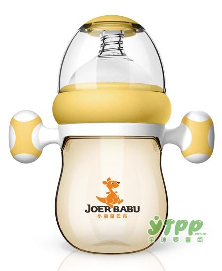 经常给宝宝按摩手掌心好处多多呢   小袋鼠巴布自动按摩手柄PPSU宽口奶瓶更神奇