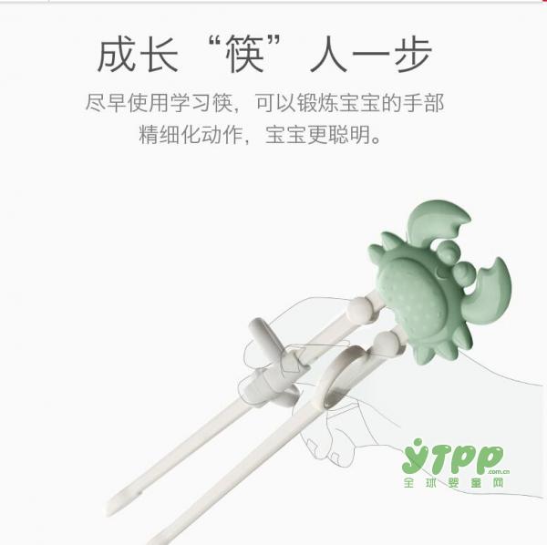 如何让孩子快速掌握用筷姿势 babycare儿童训练筷来助力