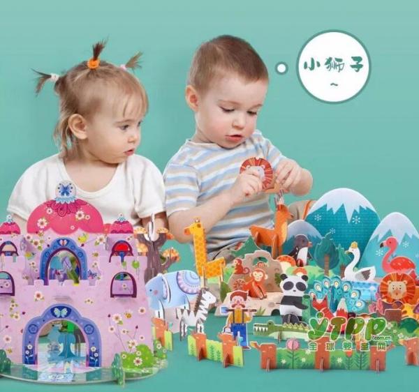 美乐童年:儿童立体拼图|场景+角色丰富搭配,身临其境的空间感教育