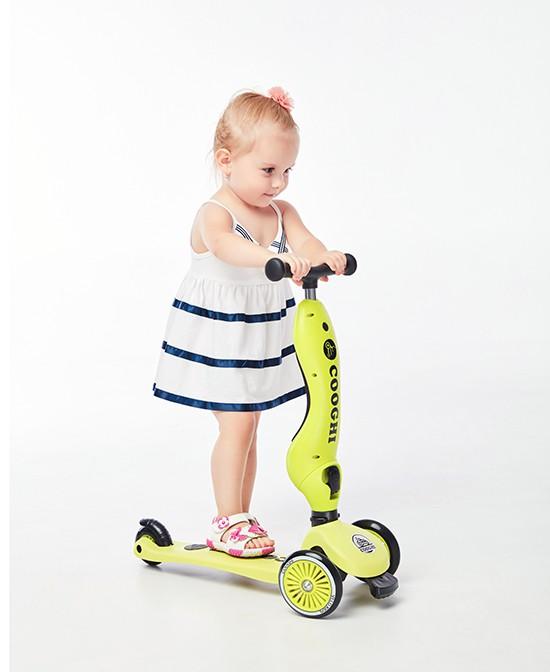 COOGHI酷骑儿童多功能滑板车 让宝宝有个快乐的童年