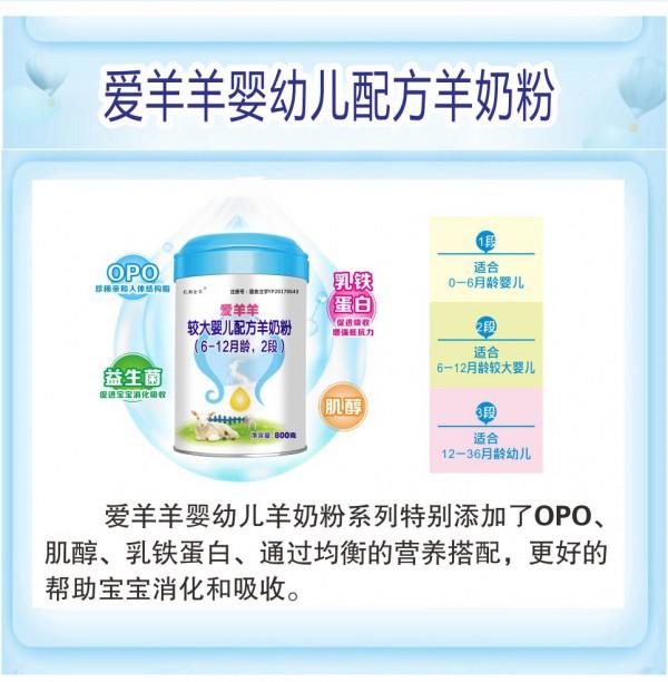 """""""奶中之王""""莎浓羊奶粉添加OPO结构  易于宝宝吸收消化"""