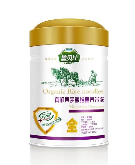 鲁贝比有机米粉粉质细腻·易消化吸收 更适合宝宝的娇嫩肠胃