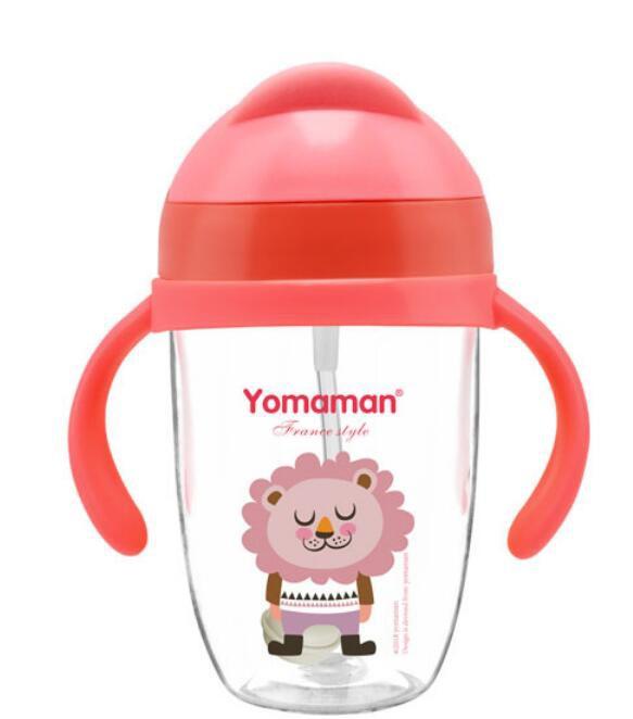 优秀妈咪Tritan广口学饮杯  孩子学习喝水必备
