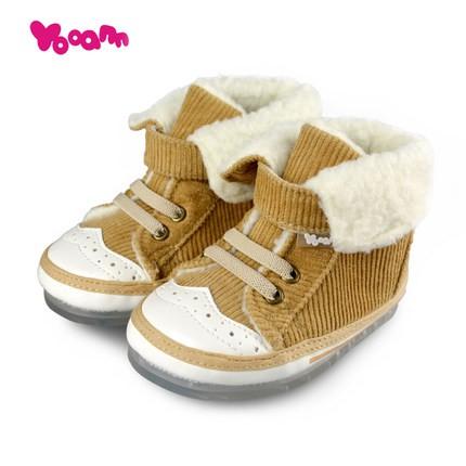 优安童鞋系列-冬季婴儿鞋  硅胶底·灯芯绒棉鞋 让双脚更保暖