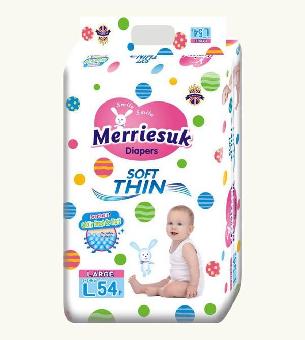 亚博-Merriesuk芯体纸尿裤365度弹性大环腰设计,给小屁屁超级舒适体验!