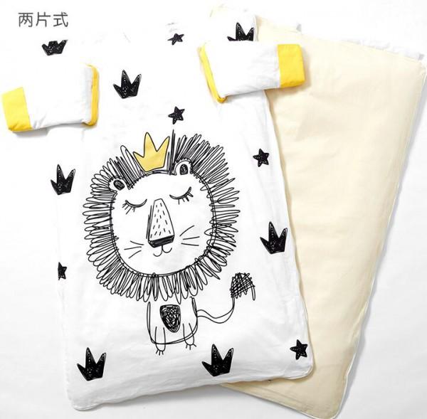 小狮帅帅冬季宝宝防踢被  纯棉材质更亲肤