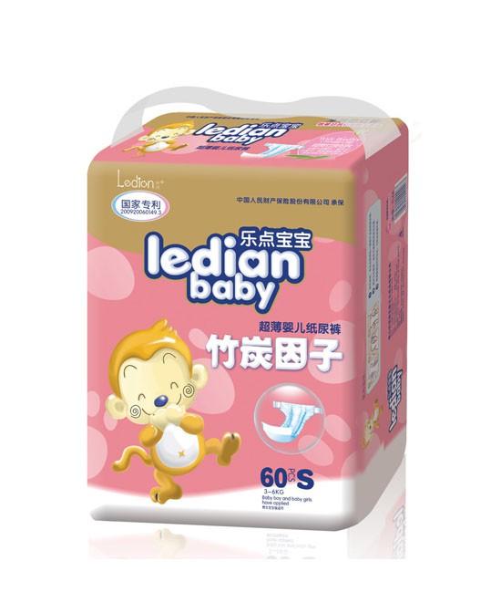 乐点宝宝纸尿裤舒适柔软,让宝宝远离红屁屁