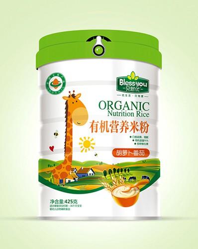 贝熙优有机营养米粉营养均衡全面,口感细腻润滑