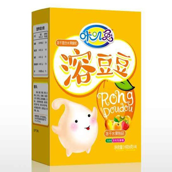咔叽兔水果酸奶溶豆豆既营养又美味,入口即化