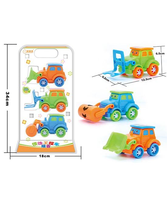 男宝宝最爱的玩具 赞宝贝惯性工程车组合 益智健体 宝宝最好的朋友