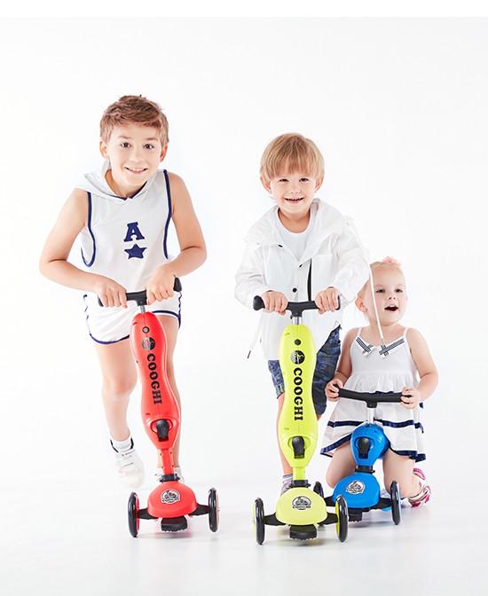 儿童骑滑板车的好处 COOGHI酷骑儿童滑板车为你揭秘