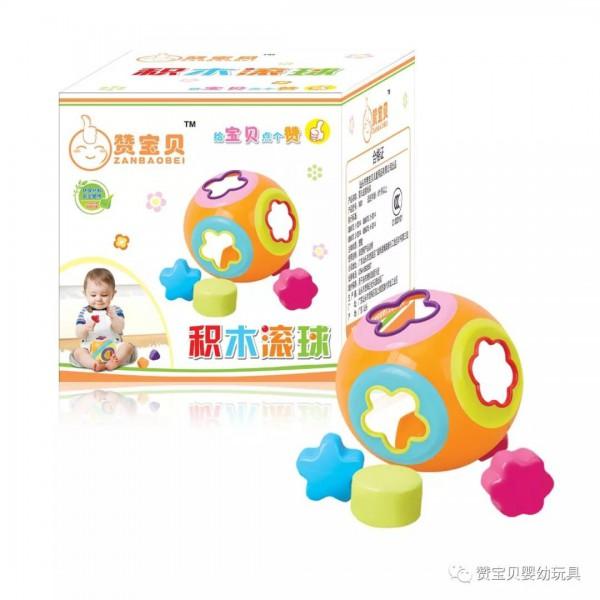 赞宝贝玩具品牌2019热销单品推荐:积木滚球V801