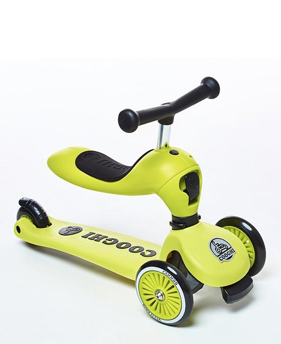 COOGHI酷騎滑板車+平衡車+學步車三加一  讓童年活力無限