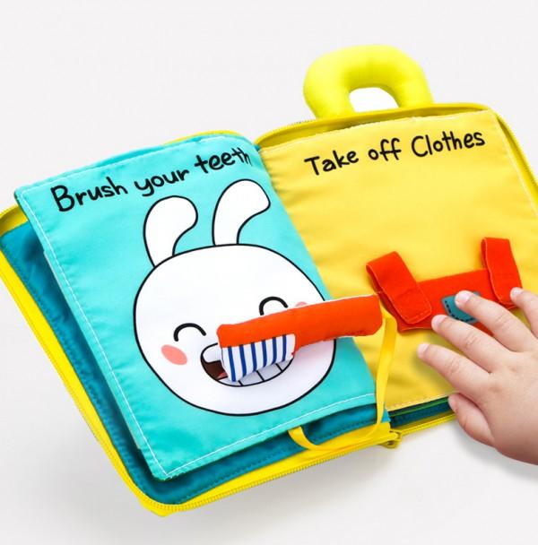 如何優質的陪伴寶寶成長   貝恩施寶寶早教益智3D立體布書立體生動?柔韌耐撕