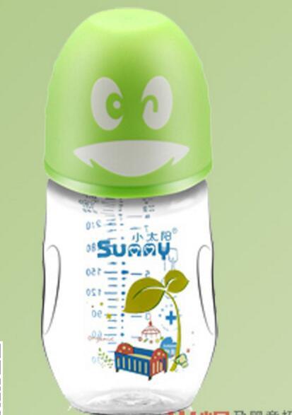 小太阳企鹅晶钻玻璃奶瓶 材质安全形象可爱