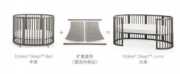 Stokke Sleepi Bed实木婴儿床   欧洲制造•让宝宝在充裕的空间里睡得更舒适