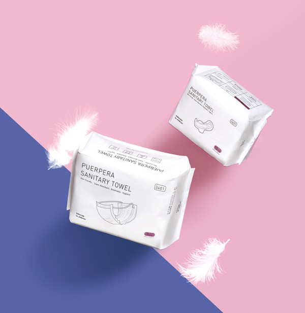 babycare产妇专用卫生巾   日本进口芯体•单向吸收不反渗