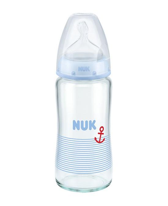 什么材质的奶瓶更安全?NUK宽口径玻璃奶瓶 让宝宝从此爱上奶瓶