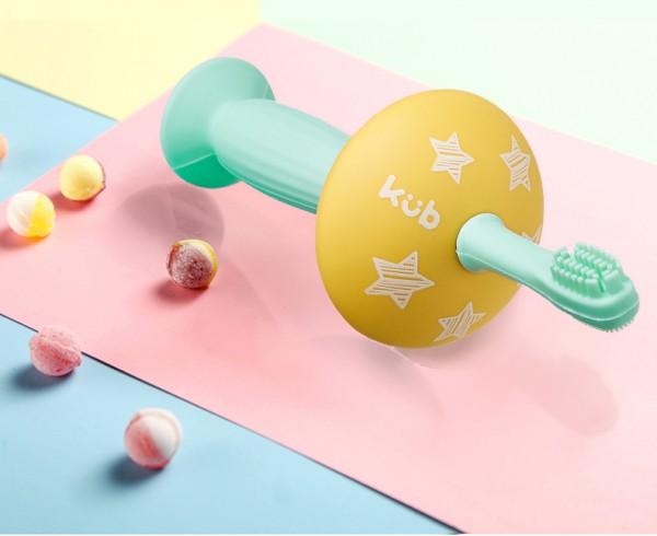KUB可优比婴儿牙刷     海鲸护片·安全防护柔软舒适