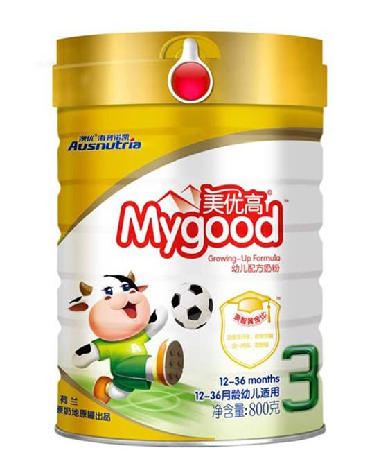 美优高幼儿配方奶粉 口感清淡易消化 为宝宝成长助攻!