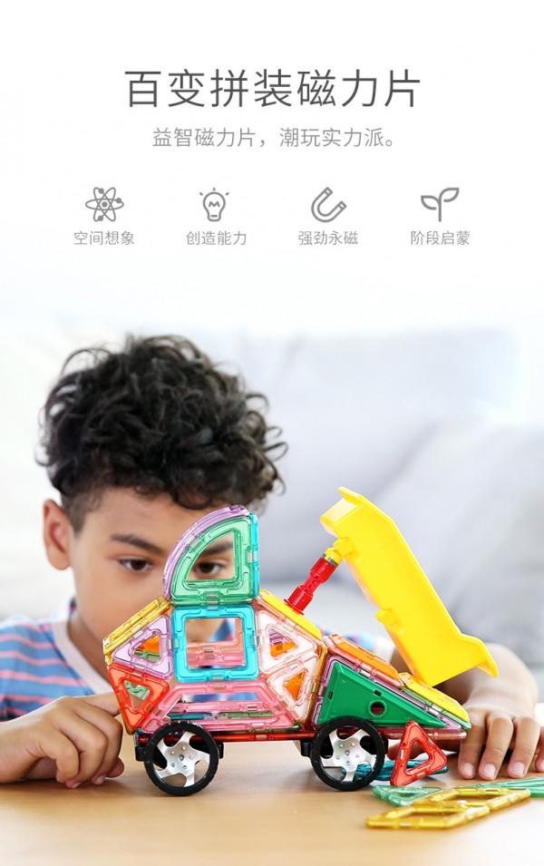 菠萝树益智磁力片玩具 百变拼装·益智启蒙 让孩子拼出智慧