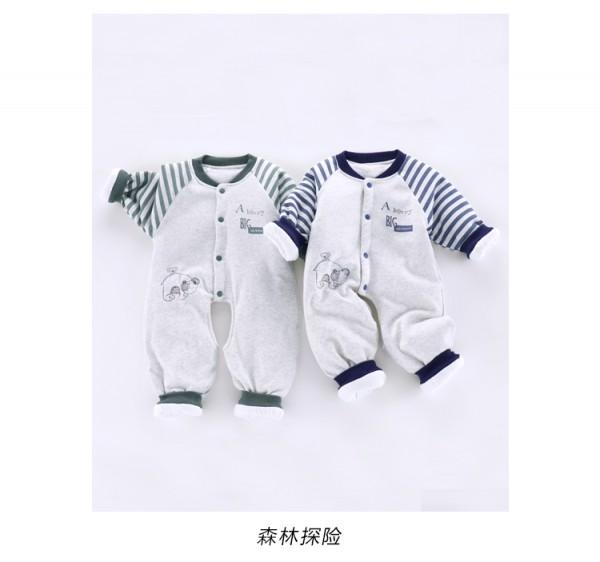 圆梦宝秋冬新品婴儿连体哈衣·三层夹棉 保暖锁温 让宝宝温暖一冬